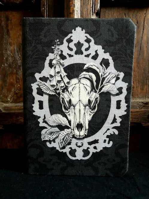 A5 notebook - Fox Skull - Black