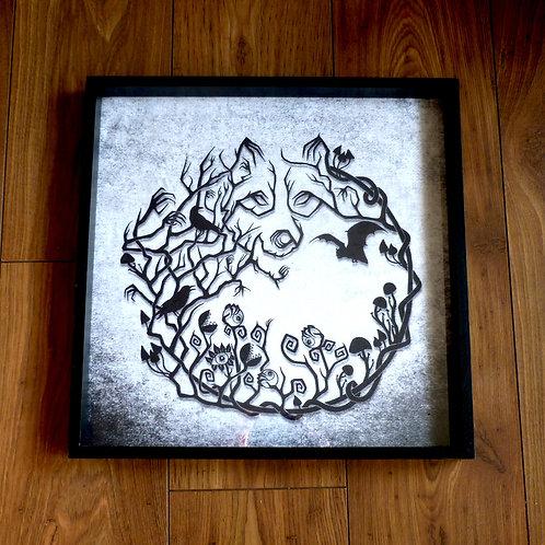 """16"""" Framed Velvet Art Print - Into the Woods"""