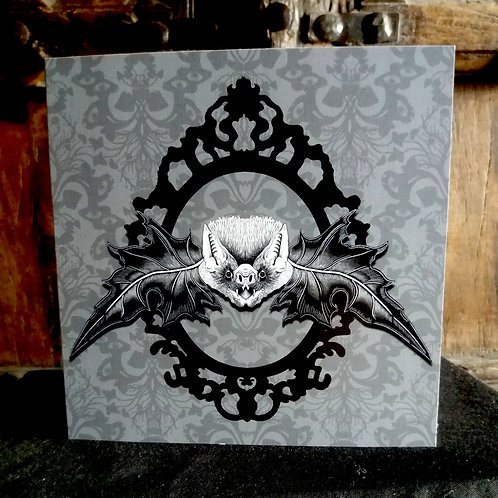 """Mr. Bat - 6"""" square greetings card"""