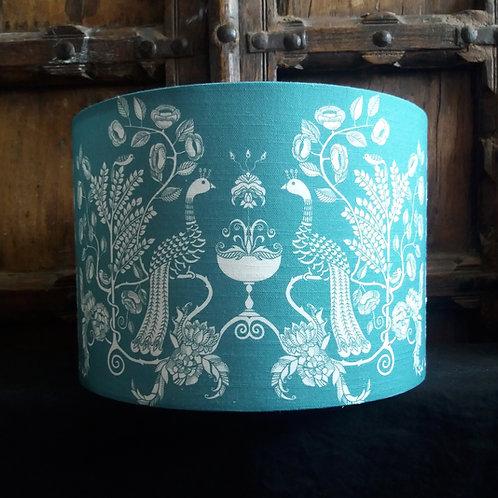 "30cm (12"") Lightshade - 'Peacock Chalice' - powder blue"