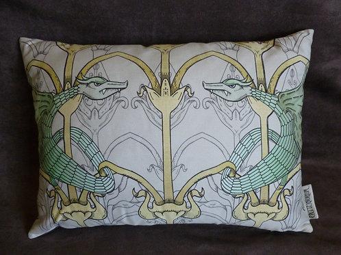 Victorian Gothic 'Dragon' Cushion (faux suede)