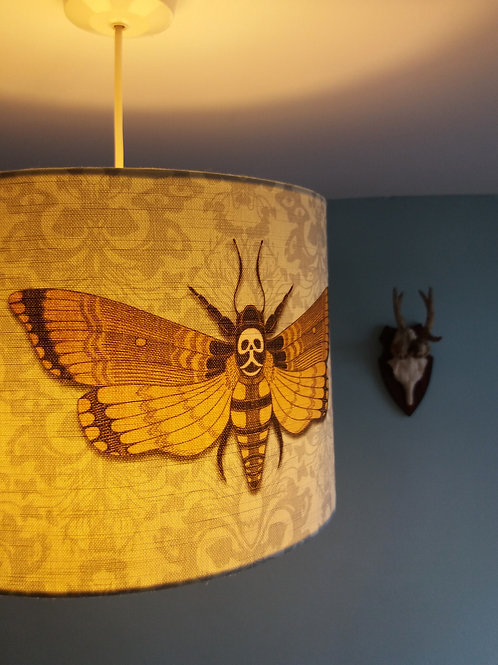"30cm (12"") Lightshade - Deaths head Hawkmoth BLUE"