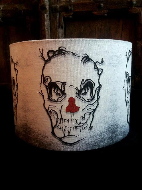 """30cm (12"""") Lightshade - 'Red Riding Skull'"""