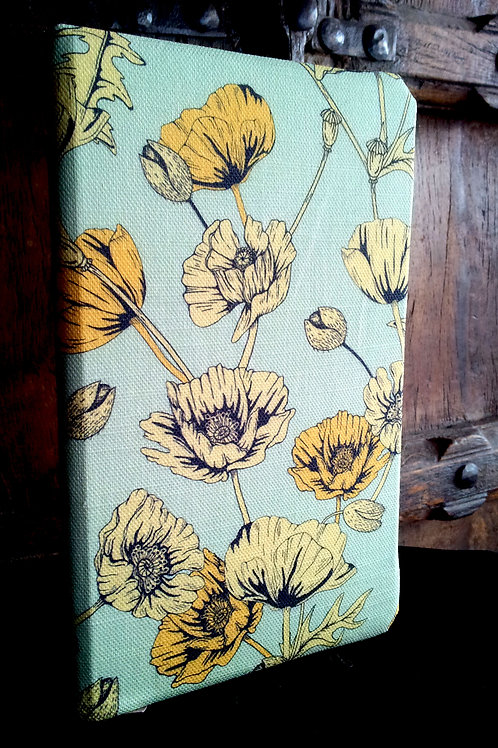 A5 notebook - Yellow Poppies on Blue