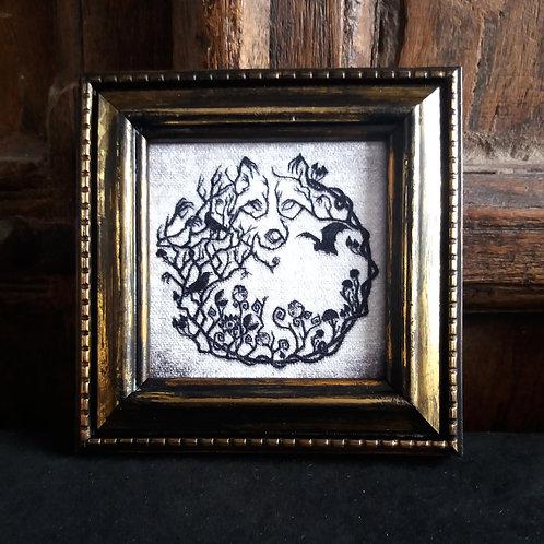 Framed Velvet fabric Art print - Into the Woods