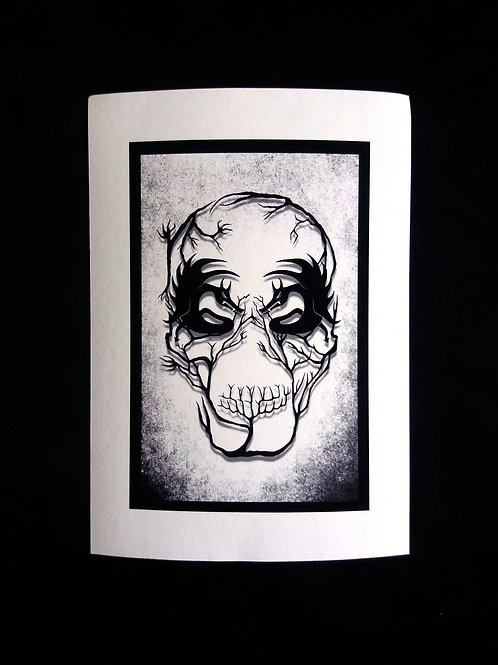 A3, A4 or A5 - Demon Skull Art print