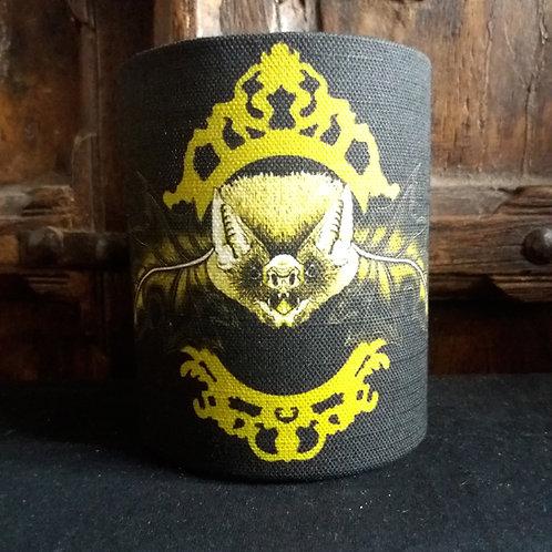 small fabric lantern - 'Mr. Bat' - black and gold