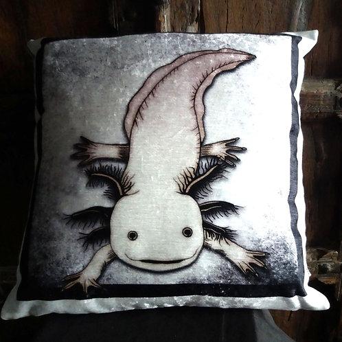 Axolotl Cushion - Bayeux Velvet
