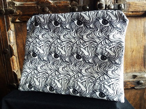 Large Zip Pouch - Eyes