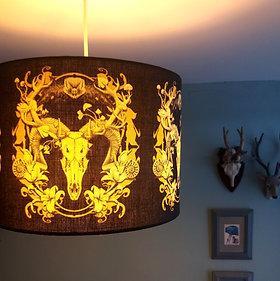 "30cm (12"") Lightshade - 'Spring Resurrection' black and gold"