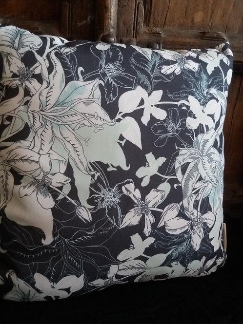 Midnight Lily Cushion - canvas