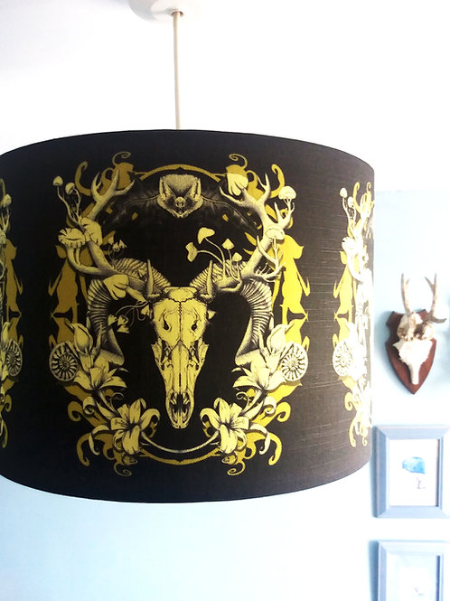 "40cm (16"") Lightshade - 'Spring Resurrection' black and gold"