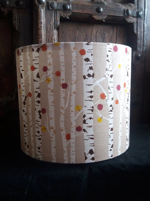 "25cm (10"") Lamp shade - Autumn Woodland Beige"