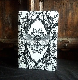 A5 notebook - Ghost Moth - White