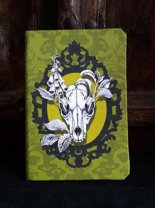 copy of A5 notebook - Fox Skull - Spring Green
