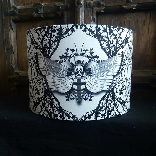 "30cm (12"") Lightshade - 'Ghost Moth - White'"