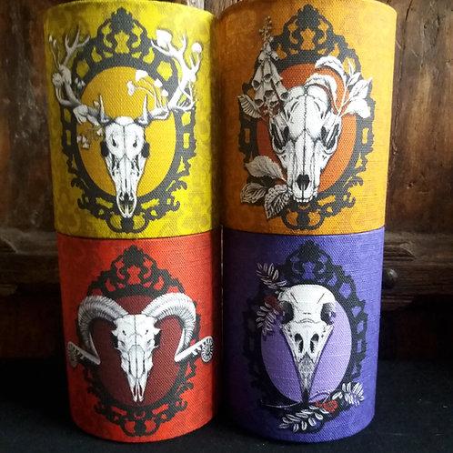 small fabric lantern - Animal Skull - bright