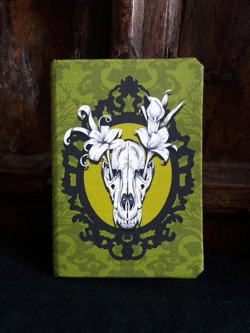 A5 notebook - Wolf Skull - Spring Green