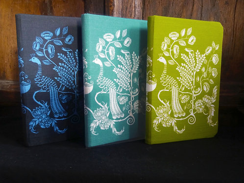 A5 notebook - Peacock Chalice - Black/Royal Blue