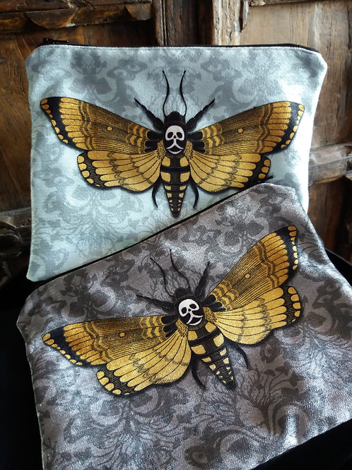 Large Zipper Pouch - Deaths head Hawk moth