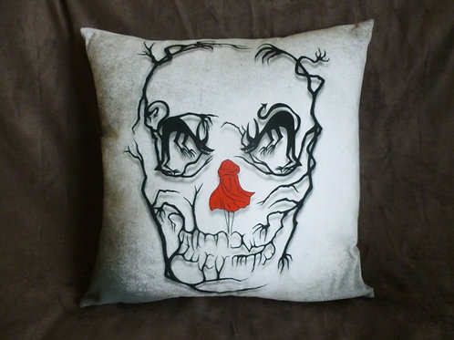 Little Red Riding Hood/Skull Cushion (Faux Suede)