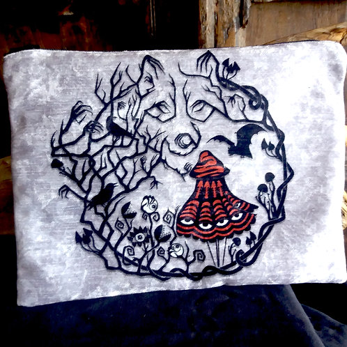 Large Zip Pouch - Red Riding Woods