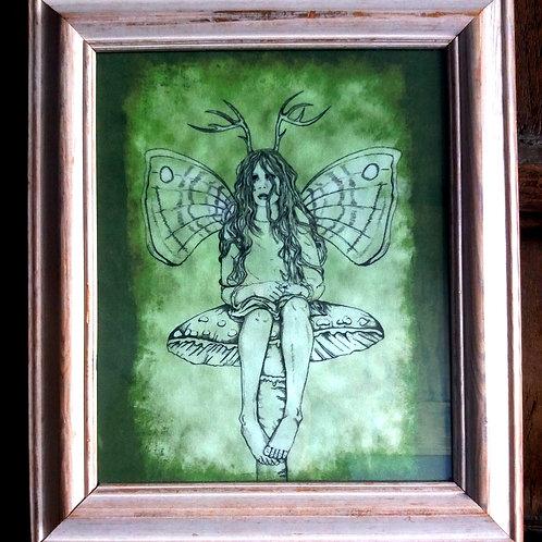 Framed Bayeux Velvet fabric print - Melancholy Fairy