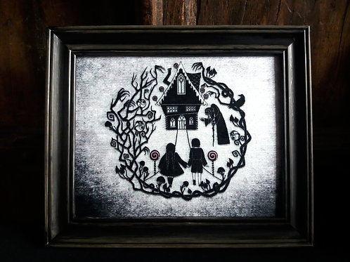 Framed Bayeux Velvet fabric print - Hansel and Gretel