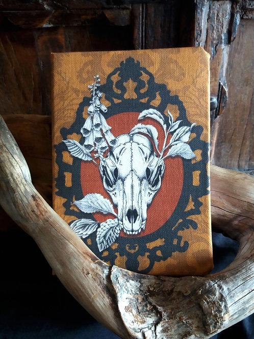 A5 2021 Diary -  Fox Skull in Orange