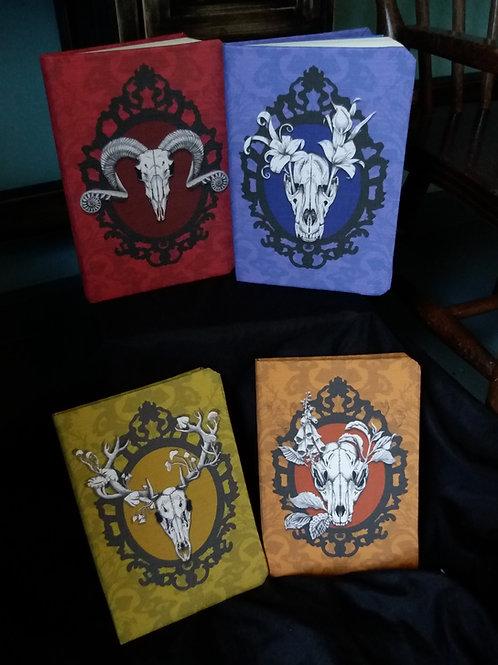 A5 lined notebook - Autumn Deer, Fox, Ram or Wolf Skull