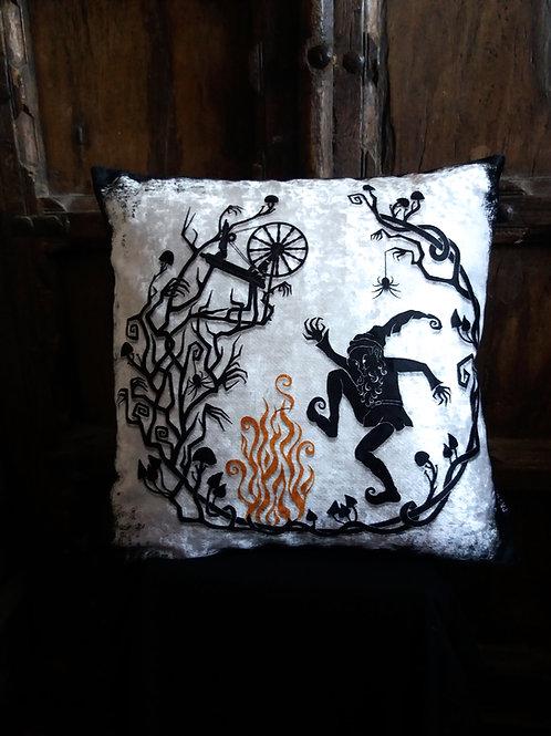 Rumplestiltskin Cushion - Bayeux Velvet