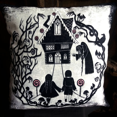 Hansel and Gretel Cushion - Bayeux Velvet
