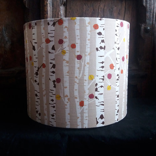 "30cm (12"") Lightshade/Lampshade - Autumn Woodland - Beige"