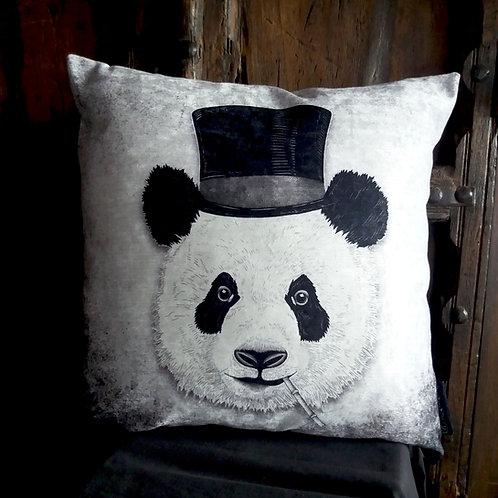 Dandy Panda Cushion - Bayeux Velvet