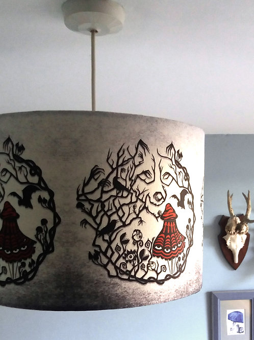 "30cm (12"") Lightshade - 'Red Riding Woods'"
