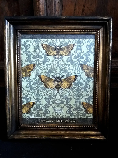 Framed textured Wallpaper Art print - Flight of Fancy
