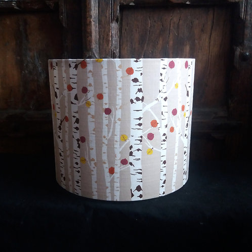 "copy of 40cm (16"") Lightshade/Lampshade - Autumn Woodland - Beige"