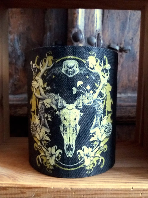 small fabric lantern - Black and Gold Spring Resurrection'