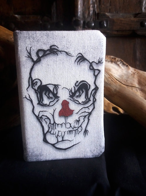 A6 lined notebook - Red Riding Hood Skull