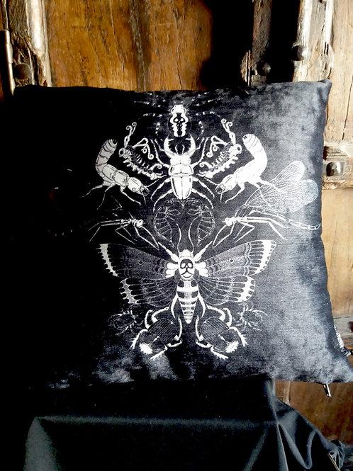 Midnight Flit Cushion - Bayeux Velvet