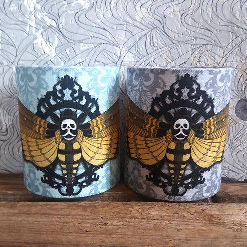 small fabric lantern - 'Deaths Head Hawk Moth'