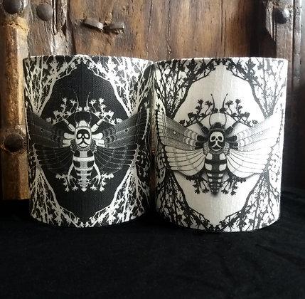 Small Fabric Tea Light Lantern - 'Ghost Moth' - Choose Your Design - PA