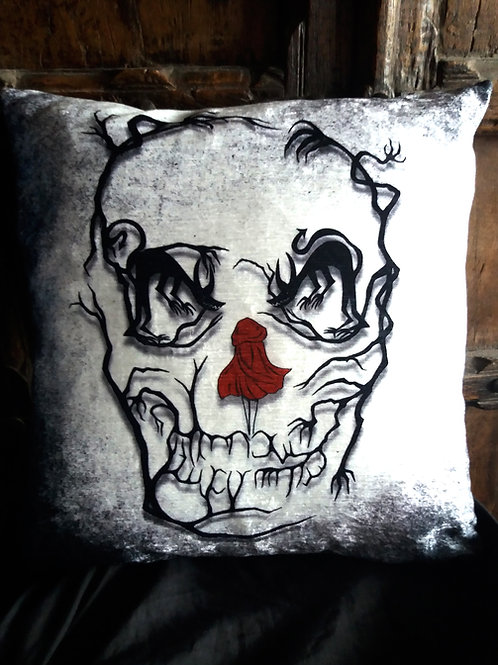 Red Riding Hood Skull - Lost in the Woods Cushion - (Bayeux Velvet)
