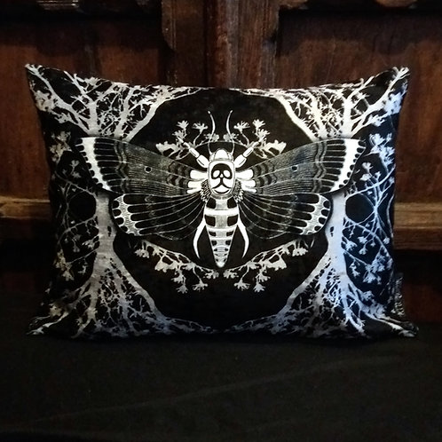 Ghost moth Cushion - Black