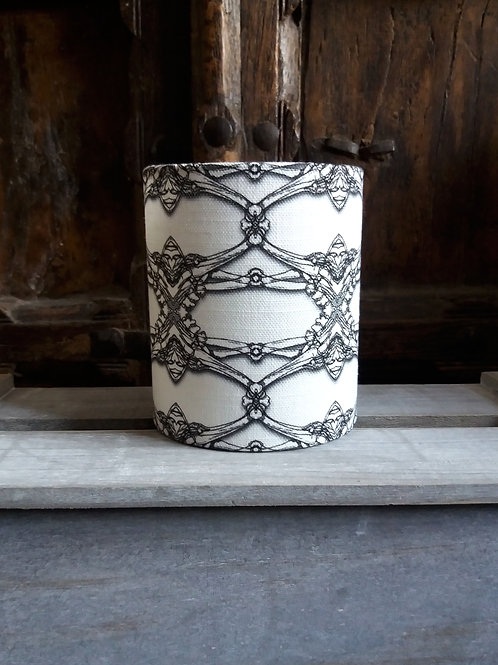 small fabric lantern - 'Bones'