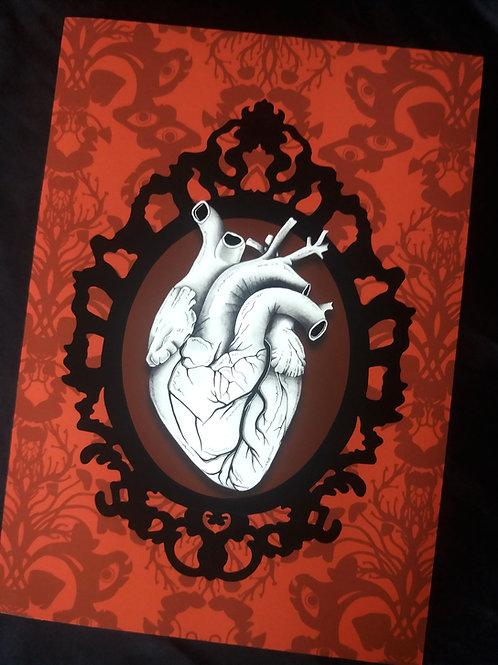 A3 or A4 Art Print - Anatomical Heart