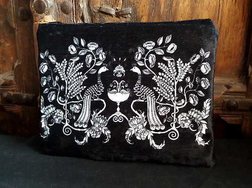 Large Zip Pouch - peacock Chalice