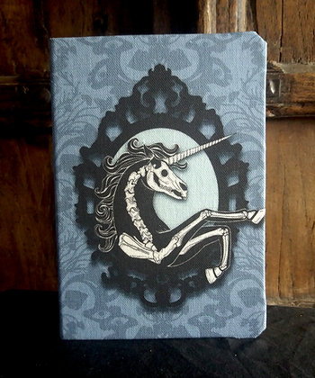 A5 Notebook - Skeleton Unicorn - PA