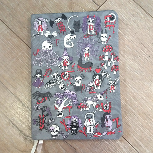 A5 notebook - Creepy Cute Alphabet