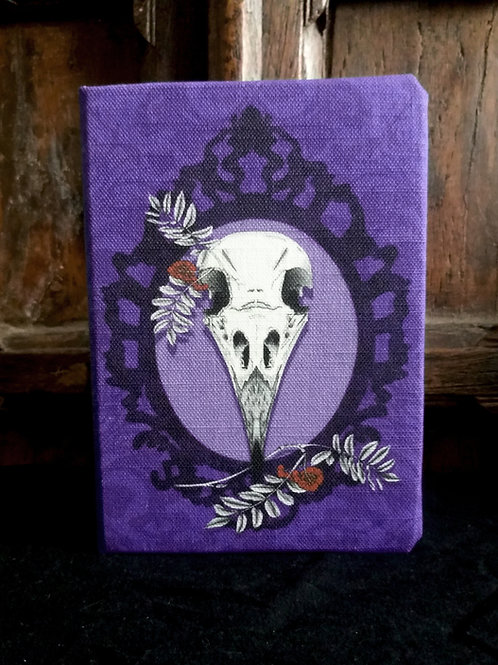 A6 lined notebook - Crow Skull
